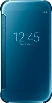 Samsung EF-ZG920BL Clear View Cover originální flipové pouzdro pro Samsung Galaxy S6 modrá (blue)
