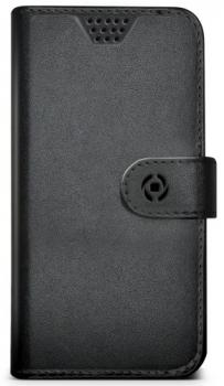 Celly Wally Unica XXL univerzální flipové pouzdro pro mobilní telefon, mobil, smartphone černá (black)