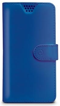 Celly Wally Unica M univerzální flipové pouzdro pro mobilní telefon, mobil, smartphone modrá (blue)