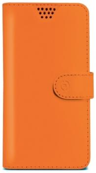 Celly Wally Unica XXL univerzální flipové pouzdro pro mobilní telefon, mobil, smartphone oranžová (orange)