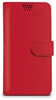 Celly Wally Unica L univerzální flipové pouzdro pro mobilní telefon, mobil, smartphone červená (red)