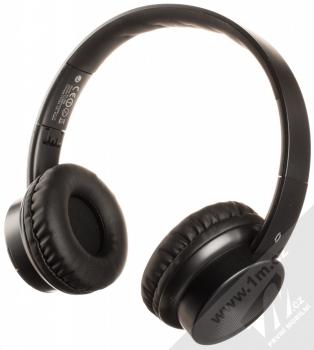 Aligator AH02 Bluetooth stereo sluchátka celá černá (all black) zezadu