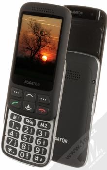 ALIGATOR VS900 SENIOR černá stříbrná (black silver) otevřené