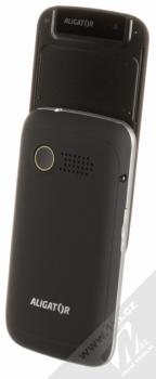 ALIGATOR VS900 SENIOR černá stříbrná (black silver) otevřené šikmo zezadu