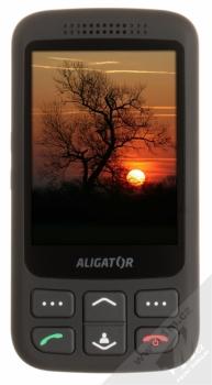 ALIGATOR VS900 SENIOR černá stříbrná (black silver) zepředu