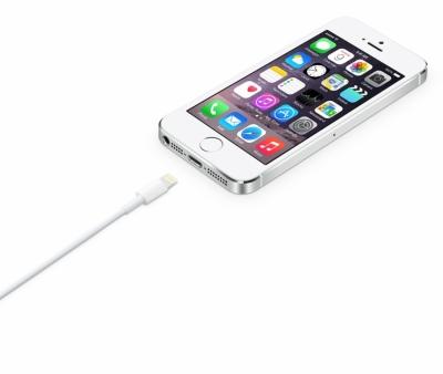 Apple MD818ZM/A originální USB kabel s Lightning konektorem pro Apple iPhone, iPad, iPod bílá (white) s telefonem