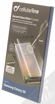CellularLine Second Glass Ultra Curved ochranné tvrzené sklo na kompletní displej pro Samsung Galaxy S8 černá (black) krabička