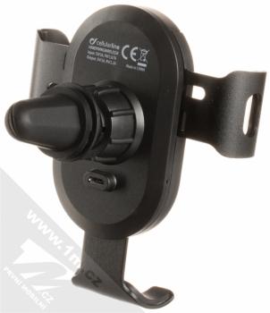 CellularLine Handy Wing Active Wireless univerzální držák s bezdrátovým nabíjením do mřížky ventilace automobilu černá (black) zezadu