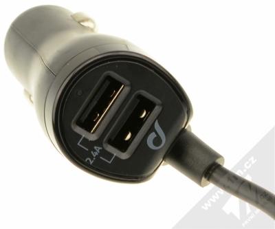 CellularLine USB Car Charger Family nabíječka do auta s 4x USB výstupem a proudem 7.2A pro mobilní telefon, mobil, smartphone, tablet černá (black) nabíječka konektory