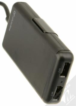 CellularLine USB Car Charger Family nabíječka do auta s 4x USB výstupem a proudem 7.2A pro mobilní telefon, mobil, smartphone, tablet černá (black) prodlužovačka konektory