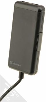 CellularLine USB Car Charger Family nabíječka do auta s 4x USB výstupem a proudem 7.2A pro mobilní telefon, mobil, smartphone, tablet černá (black) prodlužovačka zepředu