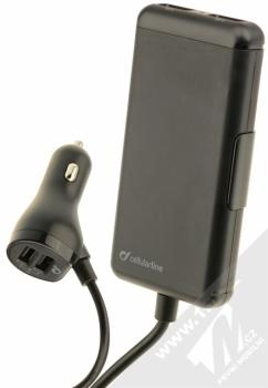CellularLine USB Car Charger Family nabíječka do auta s 4x USB výstupem a proudem 7.2A pro mobilní telefon, mobil, smartphone, tablet černá (black)
