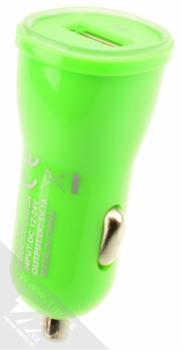 Celly USB Car Charger nabíječka do auta s USB výstupem 1A pro mobilní telefon, mobil, smartphone zelená (green) zezadu