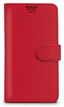 Celly Wally Unica XXL univerzální flipové pouzdro pro mobilní telefon, mobil, smartphone červená (red)
