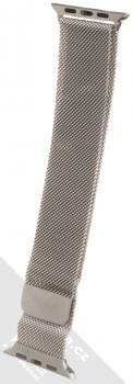 Dahase Milanese Magnetic magnetický pásek z leštěného kovu na zápěstí pro Apple Watch 42mm, Watch 44mm stříbrná (silver)