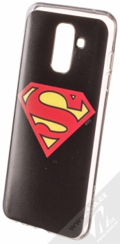 DC Comics Superman 002 TPU ochranný silikonový kryt s motivem pro Samsung Galaxy A6 Plus (2018) černá (black)
