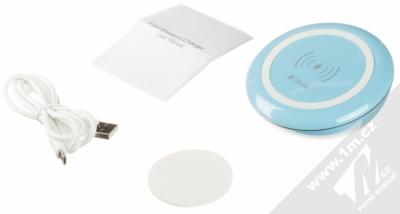 Devia Fast Wireless Charger stojánek rychlého bezdrátového Qi nabíjení modrá (blue) balení