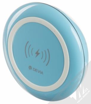 Devia Fast Wireless Charger stojánek rychlého bezdrátového Qi nabíjení modrá (blue) seshora