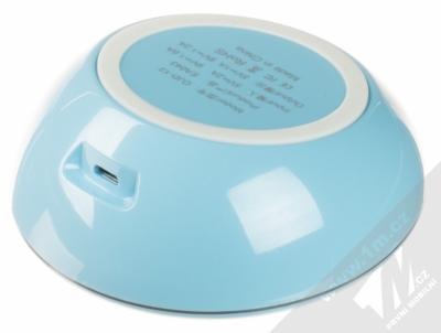 Devia Fast Wireless Charger stojánek rychlého bezdrátového Qi nabíjení modrá (blue) zezadu