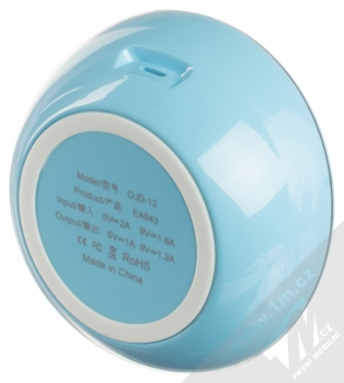 Devia Fast Wireless Charger stojánek rychlého bezdrátového Qi nabíjení modrá (blue) zezdola
