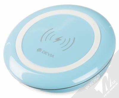 Devia Fast Wireless Charger stojánek rychlého bezdrátového Qi nabíjení modrá (blue)