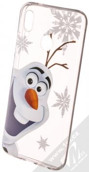 Disney Olaf 002 TPU ochranný silikonový kryt s motivem pro Huawei P20 Lite průhledná (transparent)