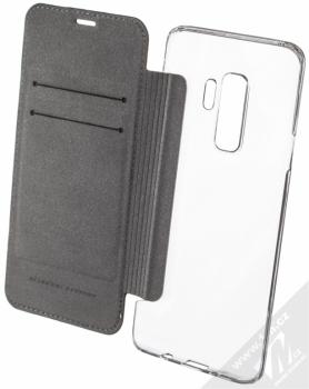 Ferrari On Track flipové pouzdro pro Samsung Galaxy S9 Plus (FESURFLBKTS9LBKR) černá (black) otevřené