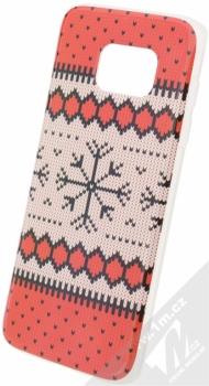 Flavr Ugly Xmas Sweater ochranný kryt s motivem pleteného svetru pro Samsung Galaxy S7 Edge červená (red)