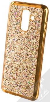 Forcell Brylant ochranný kryt s třpytkami pro Samsung Galaxy A6 Plus (2018) zlatá (gold)