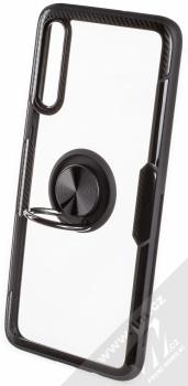 Forcell Carbon Clear Ring ochranný kryt s držákem na prst pro Samsung Galaxy A70 černá (black) otevřené
