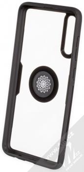 Forcell Carbon Clear Ring ochranný kryt s držákem na prst pro Samsung Galaxy A70 černá (black) zepředu