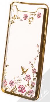 Forcell Diamond Flower TPU ochranný kryt pro Samsung Galaxy A80 zlatá (gold)