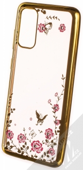 Forcell Diamond Flower TPU ochranný kryt pro Samsung Galaxy S20 zlatá (gold)
