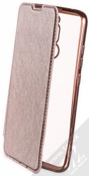 Forcell Electro Book flipové pouzdro pro Xiaomi Redmi 8 růžově zlatá (rose gold)