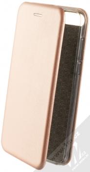 Forcell Elegance Book flipové pouzdro pro Huawei Y7 Prime (2018), Honor 7C růžově zlatá (rose gold)