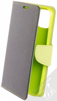 Forcell Fancy Book flipové pouzdro pro Apple iPhone 11 modrá limetkově zelená (blue lime)
