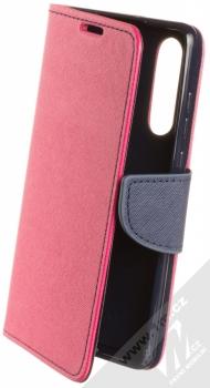 Forcell Fancy Book flipové pouzdro pro Huawei P30 růžová modrá (pink blue)
