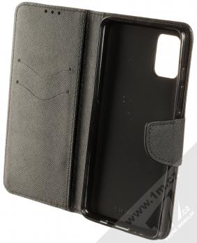 Forcell Fancy Book flipové pouzdro pro Samsung Galaxy A51 černá (black) otevřené