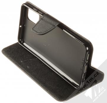 Forcell Fancy Book flipové pouzdro pro Samsung Galaxy A51 černá (black) stojánek