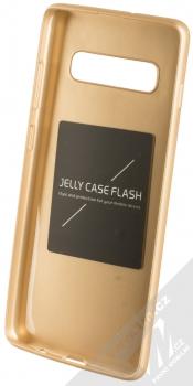 Forcell Jelly Matt Case TPU ochranný silikonový kryt pro Samsung Galaxy S10 Plus zlatá (gold) zepředu