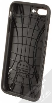 Forcell Magnet odolný ochranný kryt s kapsičkou a kovovým plíškem pro Apple iPhone 7 Plus, iPhone 8 Plus černá (black) zepředu