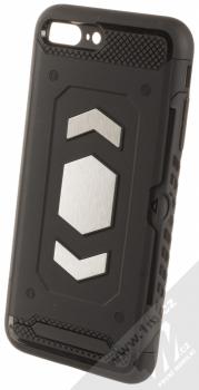 Forcell Magnet odolný ochranný kryt s kapsičkou a kovovým plíškem pro Apple iPhone 7 Plus, iPhone 8 Plus černá (black)