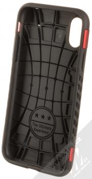 Forcell Magnet odolný ochranný kryt s kapsičkou a kovovým plíškem pro Apple iPhone X, iPhone XS červená (red) zepředu