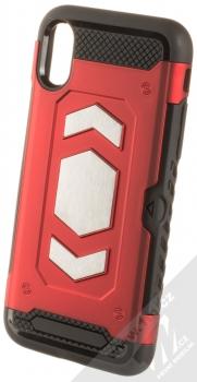 Forcell Magnet odolný ochranný kryt s kapsičkou a kovovým plíškem pro Apple iPhone X, iPhone XS červená (red)