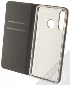Forcell Shining Book třpytivé flipové pouzdro pro Huawei P30 Lite černá (black) otevřené