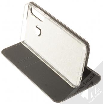 Forcell Shining Book třpytivé flipové pouzdro pro Huawei P30 Lite černá (black) stojánek