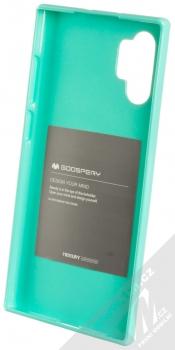 Goospery Jelly Case TPU ochranný silikonový kryt pro Samsung Galaxy Note 10 Plus mátově zelená (mint green) zepředu