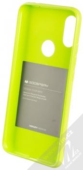 Goospery Jelly Case TPU ochranný silikonový kryt pro Xiaomi Redmi 7 limetkově zelená (lime green) zepředu