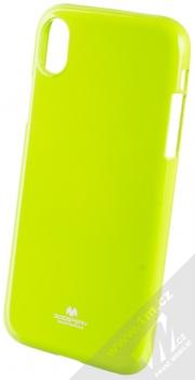 Goospery Jelly Case TPU ochranný silikonový kryt pro Apple iPhone XR limetkově zelená (lime green)