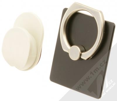 GreenGo Sticky Smart-Ring držák na prst černá (black)